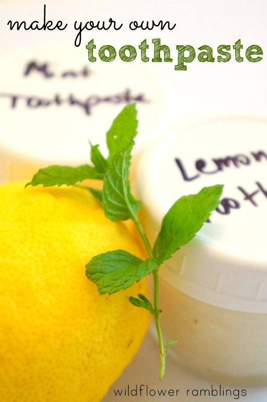 how to make your own toothpaste - wildflower ramblings