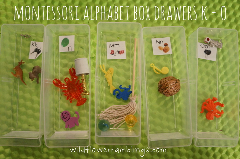 How to make a Montessori Alphabet Box from Wildflower Ramblings