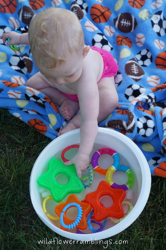 rings in water - 21 Activities for One Year Olds - Baby Play - Wildflower Ramblings