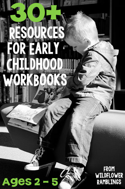 30+ resources for best workbooks to purchase for preschool! from Wildflower Ramblings