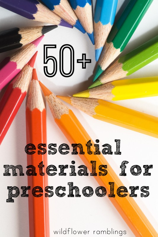 preschool essential materials for learning