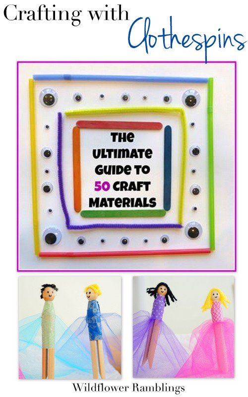 Clothespin Fairies {ultimate guide to clothespin crafts and ideas!} from WIldflower Rambings