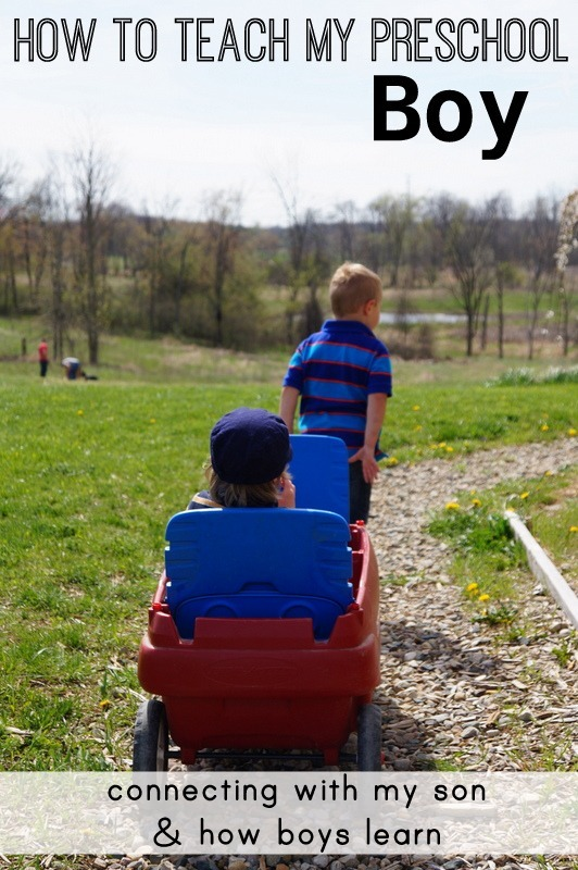 Connecting with my son and how boys learn - wildflower ramblings