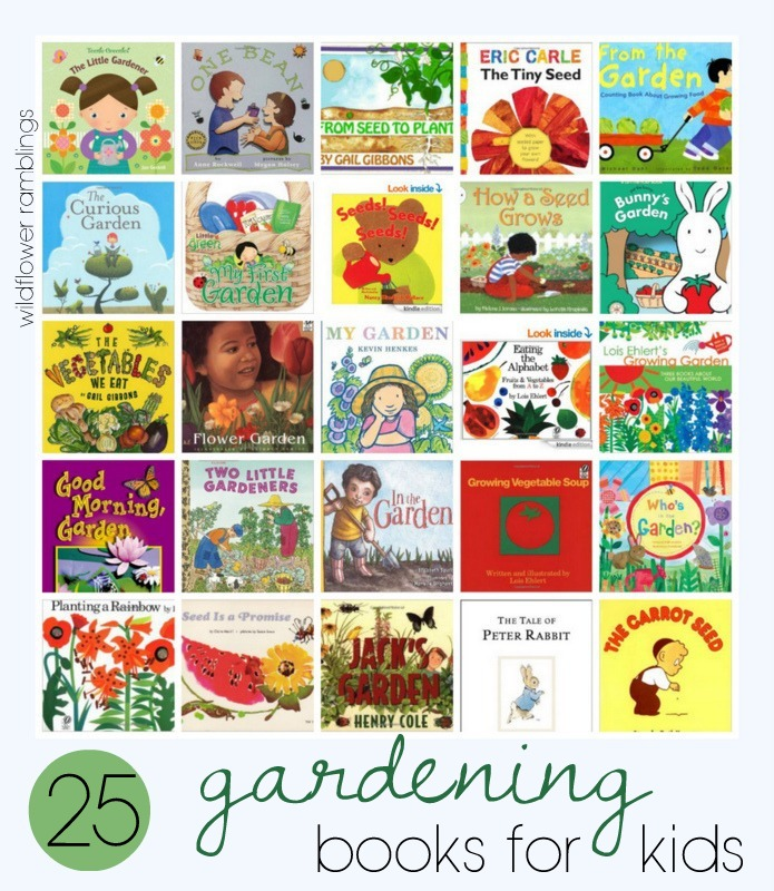 G is for Gardening with Kids - Wildflower Ramblings #nature #preschool #booksforkids
