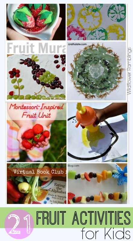 Activities using FRUIT for kids -- for FUN PLAY!! -- from Wildflower Ramblings