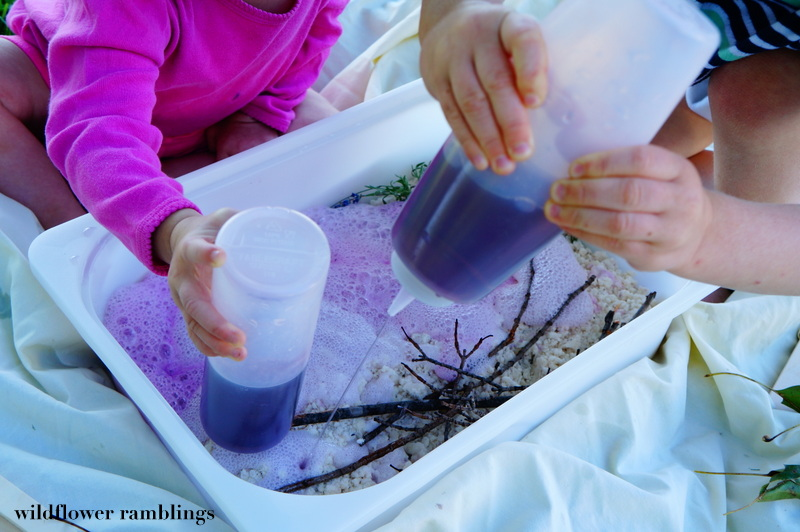 Lavendar Fizzy Sensory Dough - Wildflower Ramblings