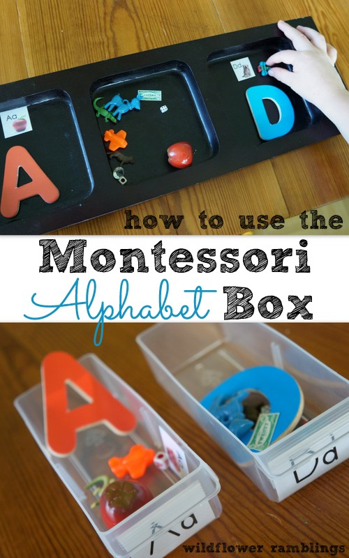 How to use the Montessori Alphabet Box from Wildflower Ramblings