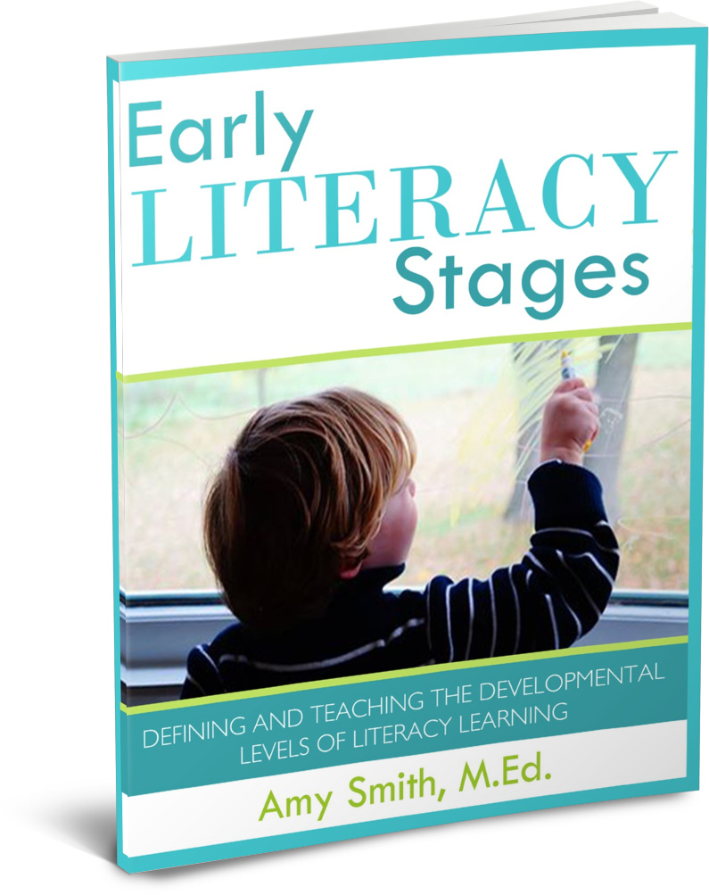 FREE Early Literacy Stages EBook (70+pages!) from Wildflower Ramblings #literacy #preschool #free