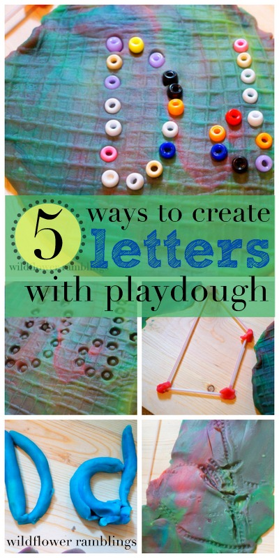 making letters with play dough - wildflower ramblings #reggio #playdough