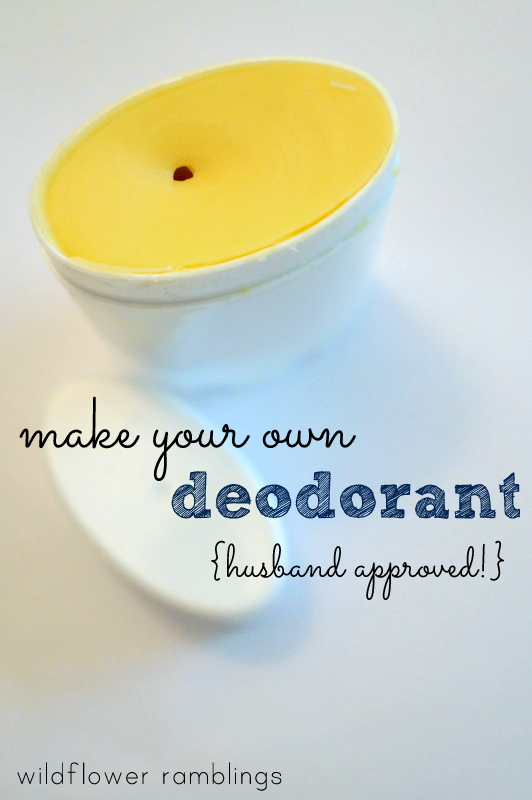 EASY TO MAKE and it works - homemade deodorant that your husband can wear!! Wildflower Ramblings