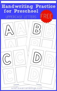 Uppercase Handwriting Pages for Preschool