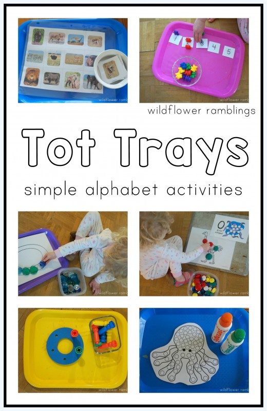 Tot Trays with simple activity ideas - wildflower ramblings
