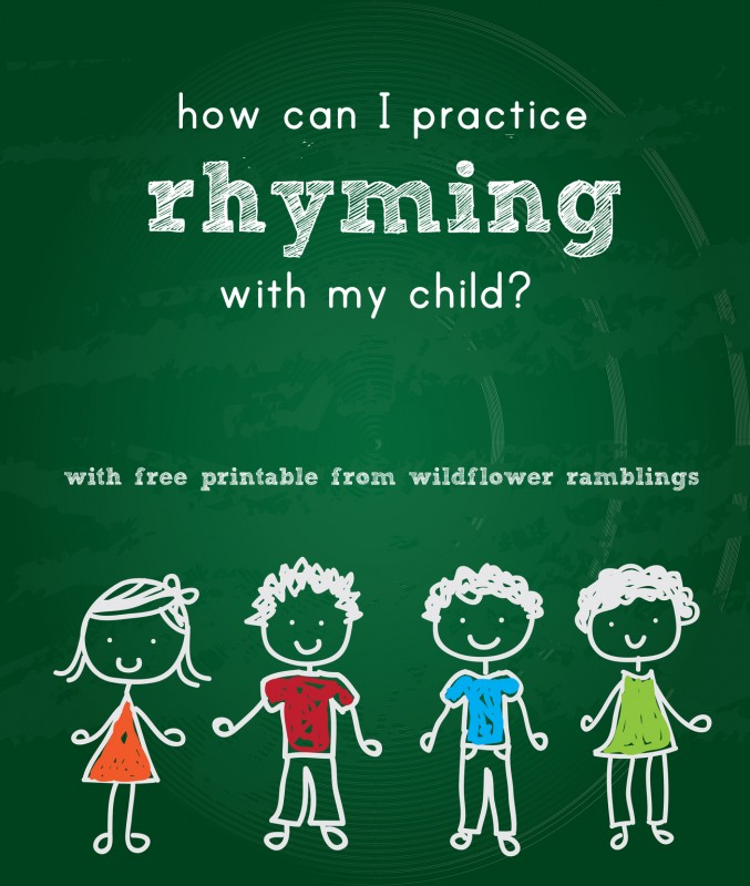 how can I practice rhyming with my child? free rhyming prompts printable for phonological awareness